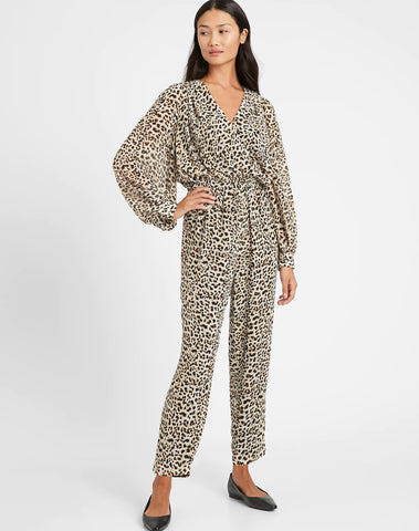 Print Balloon-sleeve Jumpsuit