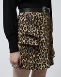 Printed Asymmetric Skirt With Pockets