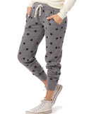 Printed Eco-Fleece Jogger Pants