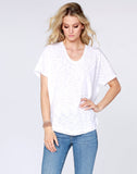 Raw Edge Dolman V-neck