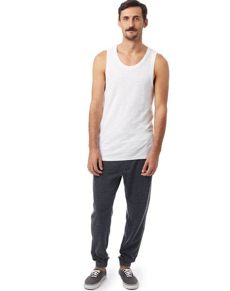 Raw Edge Garment Dyed Slub Tank Top