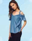 Rayna Cold Shoulder Blouse