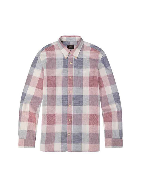Red and Blue Madras Plaid Shirt
