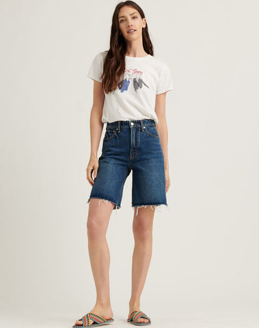 Relaxed Bermuda Jean Short