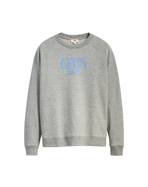 Relaxed Graphic Crewneck Smokestack Heather - Grey
