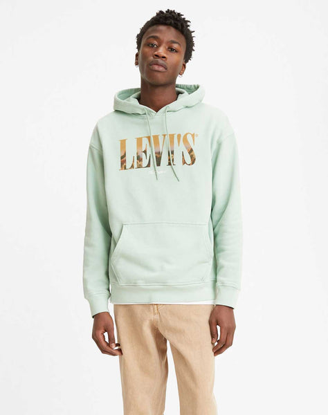 Relaxed Graphic Hoodie Harbor Grey