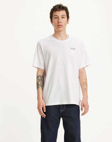Relaxed Graphic Tee Shirt White - Multi-color