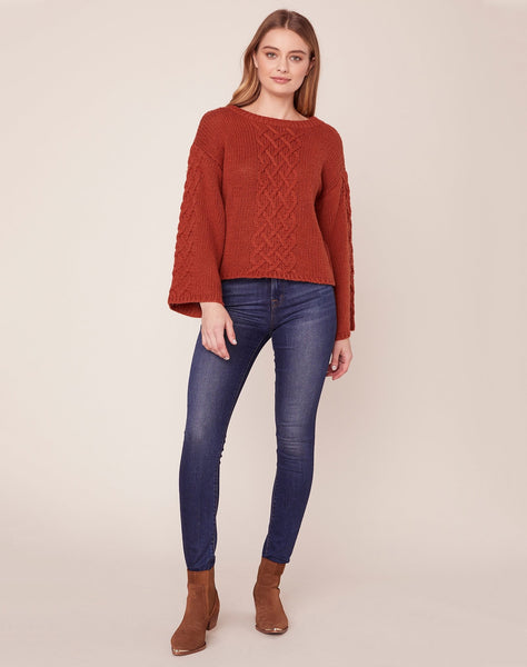 Retro Active Cable Knit Sweater