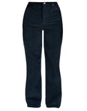 Ribcage Wide Leg Corduroy Pants Navy Blue Cord
