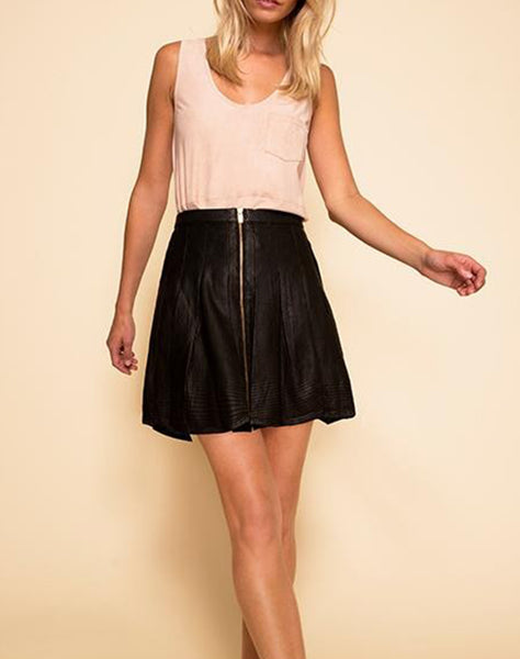 Rio Leather Skirt
