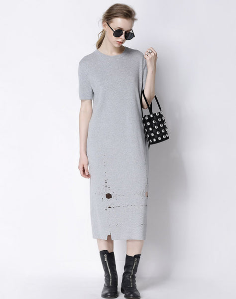 Ripped T-Shirt Dress