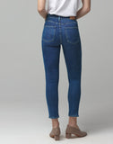 Rocket Crop Mid Rise Skinny Fit in Carmel
