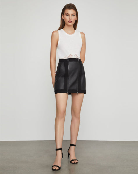 Roxy Faux-leather Mini Skirt