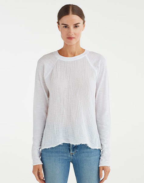 RUCHED BACK BASEBALL TOP