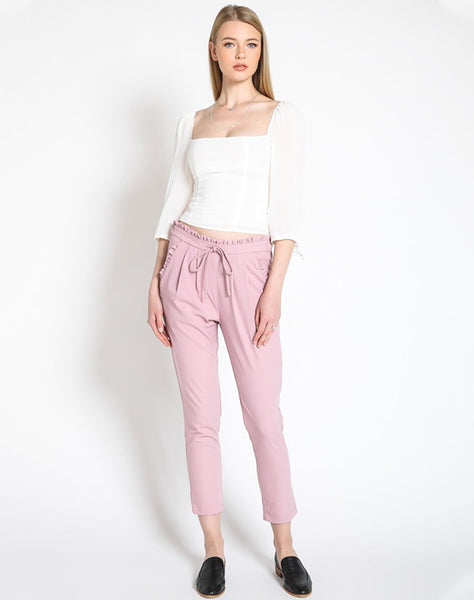 RUFFLE ME TROUSERS - PINK