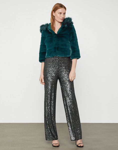Sage Faux Fur Jacket