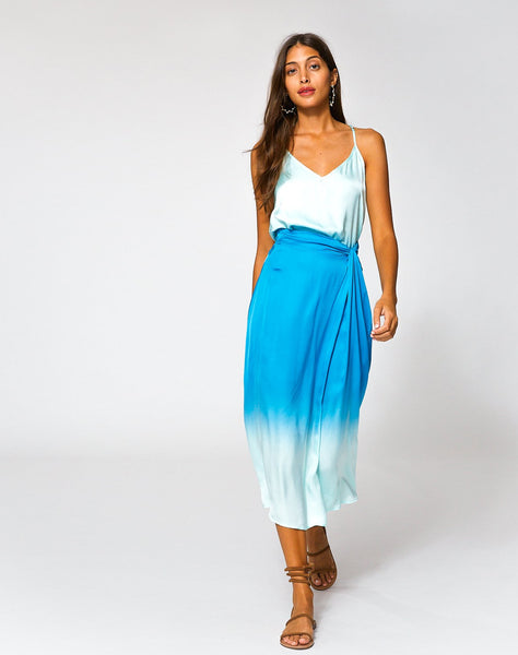 Savanna Skirt In Bali Blue Ombre