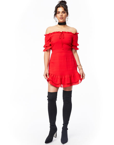 Scorpion Ruffle Dress