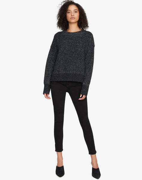 Shine On Sweater Black And Silver Lurex