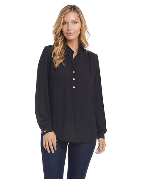 Shirred Henley Top