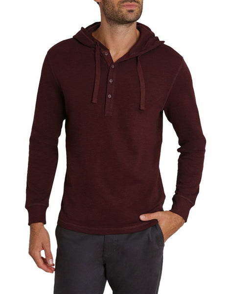Shopping Bag Waffle Hooded Henley