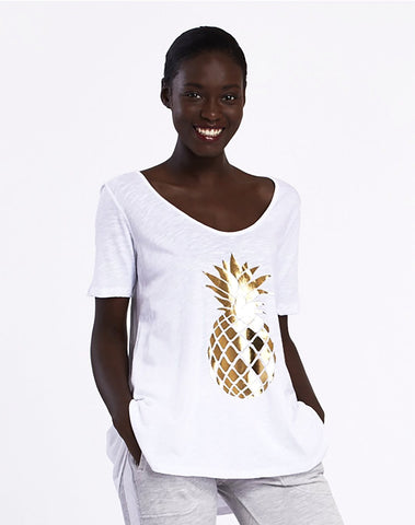 Gold Pineapple Tee
