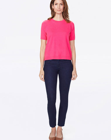 Short Sleeve Sweater - Big Pink