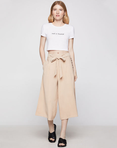 Side Button Culotte Pant