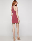 Side Knot Surplice Dress