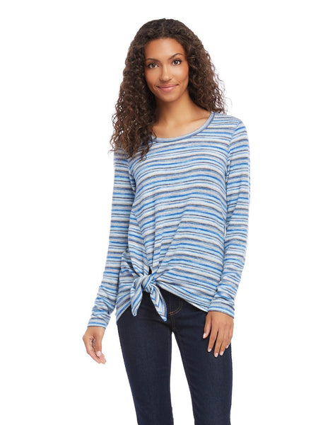 Side-Tie Stripe Top