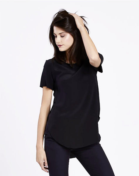 Shirt Tail Silk Tee