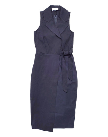 Collar Tie Wrap Dress