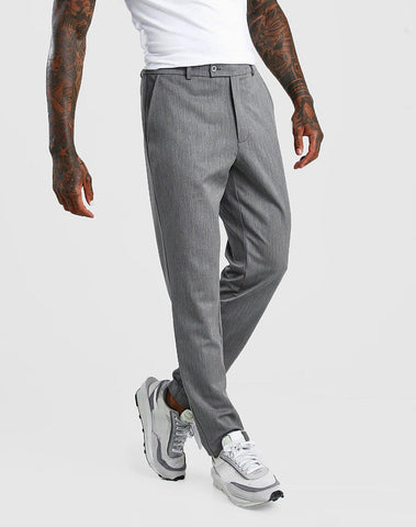 Slim Casual Cropped Pants