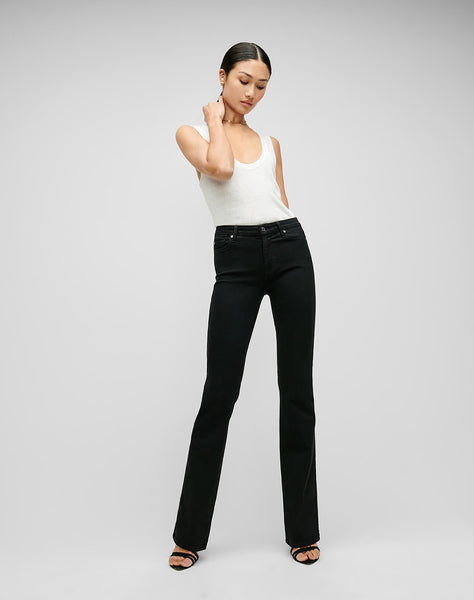 Slim Illusion Kimmie Bootcut In Luxe Black
