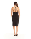 Quadrablend Strappy Back Bodycon Cami Dress W/ Slit