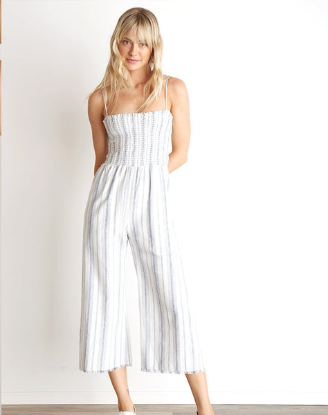 Smocked Crop Wide Leg Jumpsuit