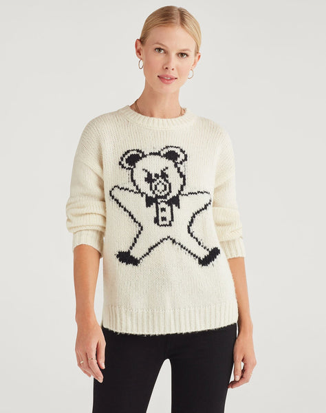 Step Hem Teddy Sweater