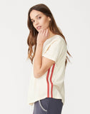 Stripe Rib Crew Neck