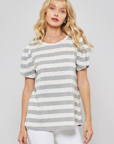 Striped Knit Top...