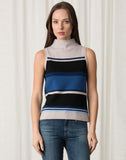Striped Mock Neck