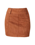 Suede Secret Faux Suede Mini Skirt