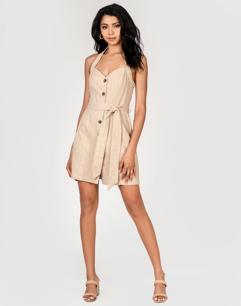 Sun Tan Mini Dress