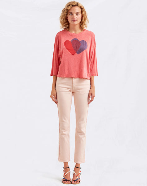 Sundry Double Heart Tee