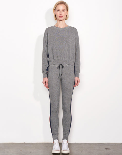 Sundry Multicolor Inset Pullover