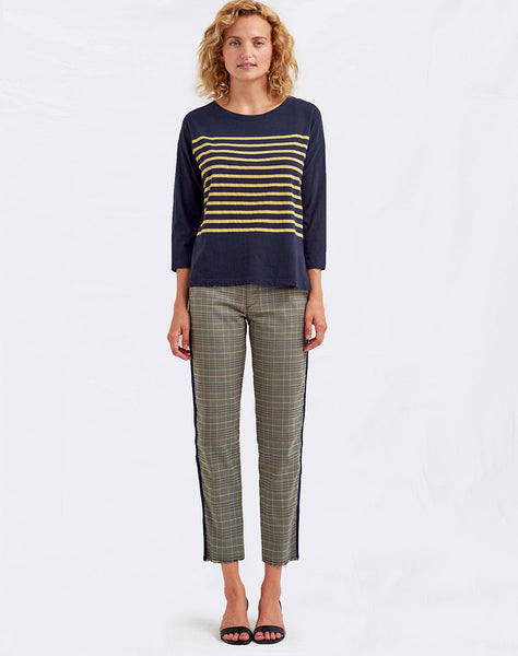 Sundry Stripes Boat Neck Tee