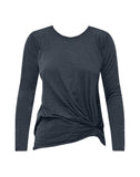 Supima Slub Jersey Twist Long Sleeve T-shirt