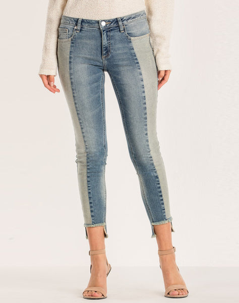 TAKING SIDES MID-RISE ANKLE SKINNY JEANS