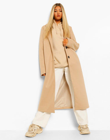 Tall Longline Wool Look Coat