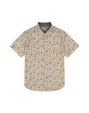 Tan Hula Print Short Sleeve Shirt