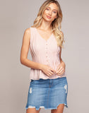 TAYLOR SLEEVELESS BUTTON DOWN TOP